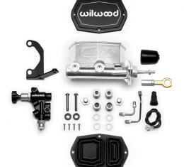 Wilwood Brakes Compact Tandem M/C w/Bracket and Valve (Mustang) 261-15545-P