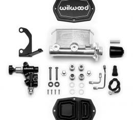 Wilwood Brakes Compact Tandem M/C Kit with Bracket and Valve 261-14964-P