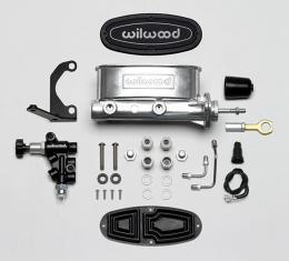 Wilwood Brakes Aluminum Tandem M/C w/Bracket and Valve (Mustang) 261-14158-P
