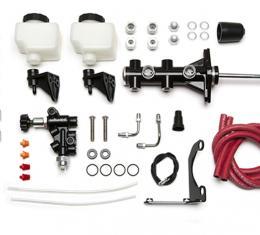 Wilwood Brakes Remote Tandem M/C Kit w/Pushrod, Bracket and Valve 261-14250-BK