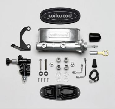 Wilwood Brakes Aluminum Tandem M/C w/Bracket and Valve (Mustang) 261-13272-P