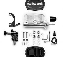 Wilwood Brakes Compact Tandem M/C w/Bracket and Valve (Pushrod) 261-14962-P