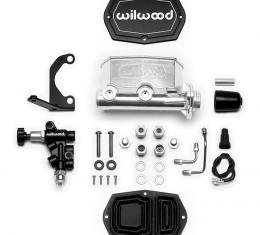 Wilwood Brakes Compact Tandem M/C Kit with RH Bracket and Valve 261-15661-P