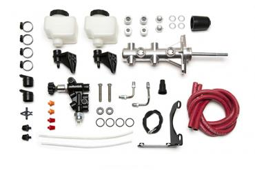 Wilwood Brakes Remote Tandem M/C Kit w/Pushrod, Bracket and Valve 261-14250-P