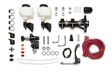 Wilwood Brakes Remote Tandem M/C Kit with Bracket and Valve 261-14252-BK