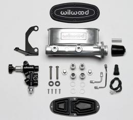 Wilwood Brakes Aluminum Tandem M/C Kit with Bracket and Valve 261-13270-P