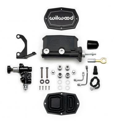 Wilwood Brakes Compact Tandem M/C w/Bracket and Valve (Mustang) 261-15545-BK