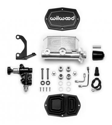 Wilwood Brakes Compact Tandem M/C Kit with Bracket and Valve 261-14963-P