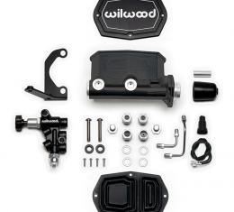 Wilwood Brakes Compact Tandem M/C Kit with RH Bracket and Valve 261-15661-BK