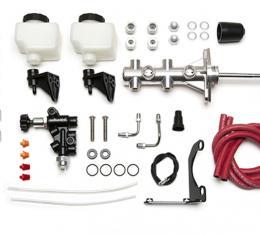 Wilwood Brakes Remote Tandem M/C Kit w/Pushrod, Bracket and Valve 261-14249-P