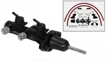 Wilwood Brakes Remote Tandem Master Cylinder w/ Pushrod 260-14241-BK