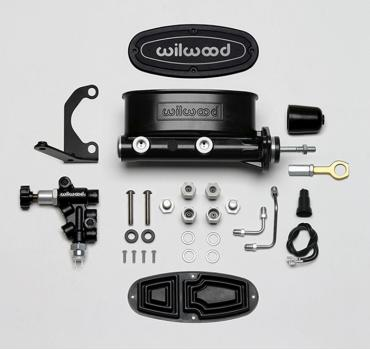 Wilwood Brakes Aluminum Tandem M/C w/Bracket and Valve (Mustang) 261-14158-BK
