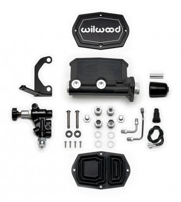 Wilwood Brakes Compact Tandem M/C Kit with RH Bracket and Valve 261-15662-BK