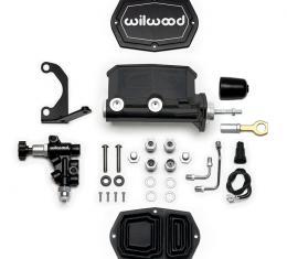 Wilwood Brakes Compact Tandem M/C w/Bracket and Valve (Mustang) 261-15544-BK