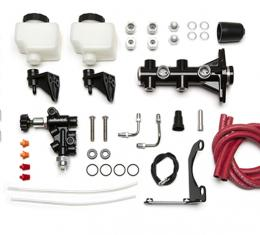 Wilwood Brakes Remote Tandem M/C Kit with Bracket and Valve 261-14251-BK