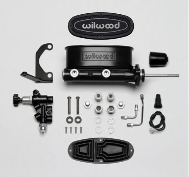 Wilwood Brakes Aluminum Tandem M/C Kit with Bracket and Valve 261-13626-BK