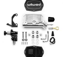 Wilwood Brakes Compact Tandem M/C w/RH Brkt and Valve (Mustang) 261-15664-P