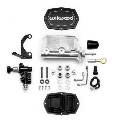 Wilwood Brakes Compact Tandem M/C w/RH Brkt and Valve (Mustang) 261-15663-P