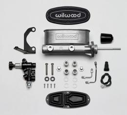 Wilwood Brakes Aluminum Tandem M/C Kit with Bracket and Valve 261-13271