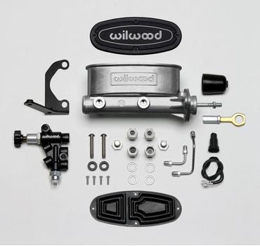 Wilwood Brakes Aluminum Tandem M/C w/Bracket and Valve (Mustang) 261-14158