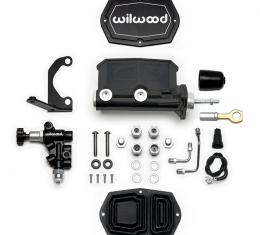 Wilwood Brakes Compact Tandem M/C w/Bracket and Valve (Mustang) 261-15522-BK
