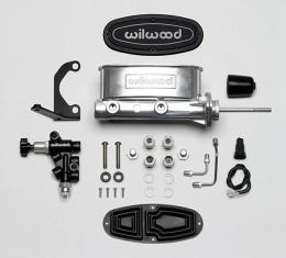 Wilwood Brakes Aluminum Tandem M/C Kit with Bracket and Valve 261-13271-P