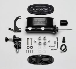 Wilwood Brakes Aluminum Tandem M/C Kit with Bracket and Valve 261-13271-BK