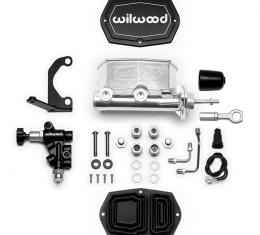 Wilwood Brakes Compact Tandem M/C w/RH Brkt and Valve (Mustang) 261-15665-P
