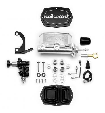 Wilwood Brakes Compact Tandem M/C w/Bracket and Valve (Mustang) 261-15523-P