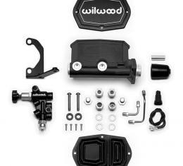Wilwood Brakes Compact Tandem M/C Kit with Bracket and Valve 261-14963-BK