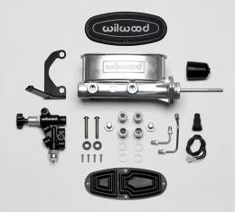 Wilwood Brakes Aluminum Tandem M/C Kit with Bracket and Valve 261-13626-P