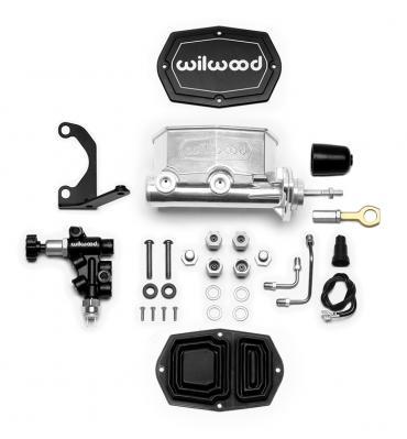 Wilwood Brakes Compact Tandem M/C w/Bracket and Valve (Mustang) 261-15522-P