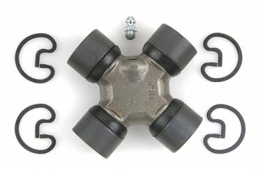 Moog Chassis 369C, Universal Joint, Spicer 1310, With Outside Retaining Clips, With 4 Round Plain Bearing, 1.063 Inch Bearing Cup Size, 3.62 Inch Outside Yoke Span A x 3.22 Inch Outside Yoke Span B, Steel, Greaseable