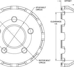 Wilwood Brakes Big Brake Dynamic Lug Drive - Flared Bell 170-14910