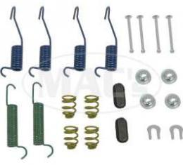 Drum Brake Hardware Combi-Kit, Rear, 9 Brakes, Comet, Falcon, Ranchero, 1963-1970