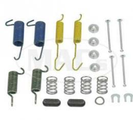 Drum Brake Hardware Combi-Kit, Rear, 10 X 2, Ford & Mercury, 1972